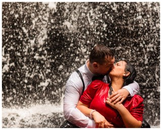 Chilhowee and Waterfall Engagement Photos_2784