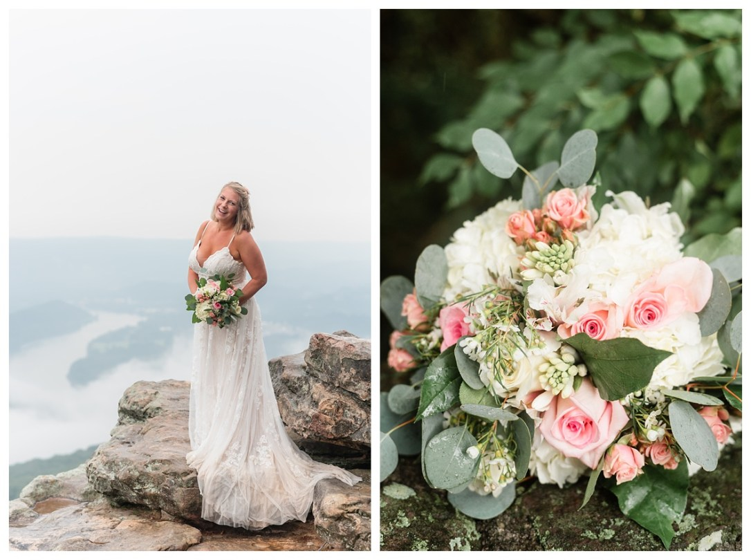 roses and wildflower bouquet