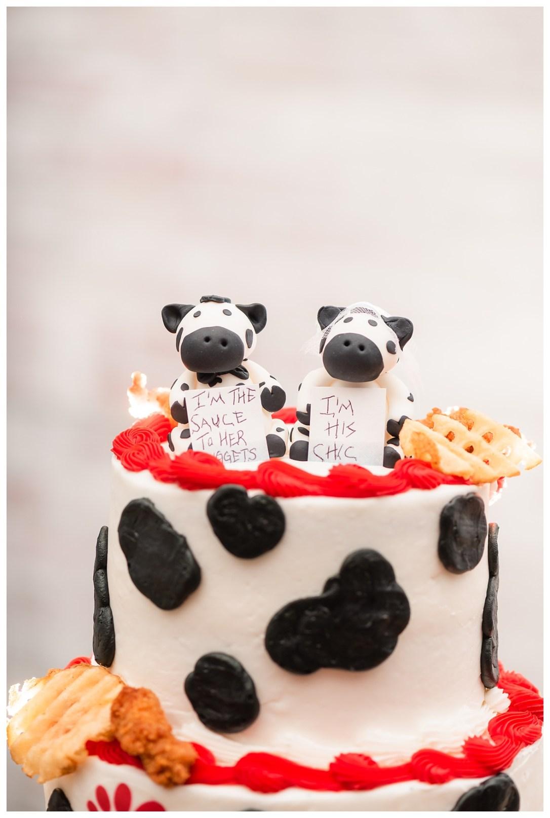 chik fil a wedding cake