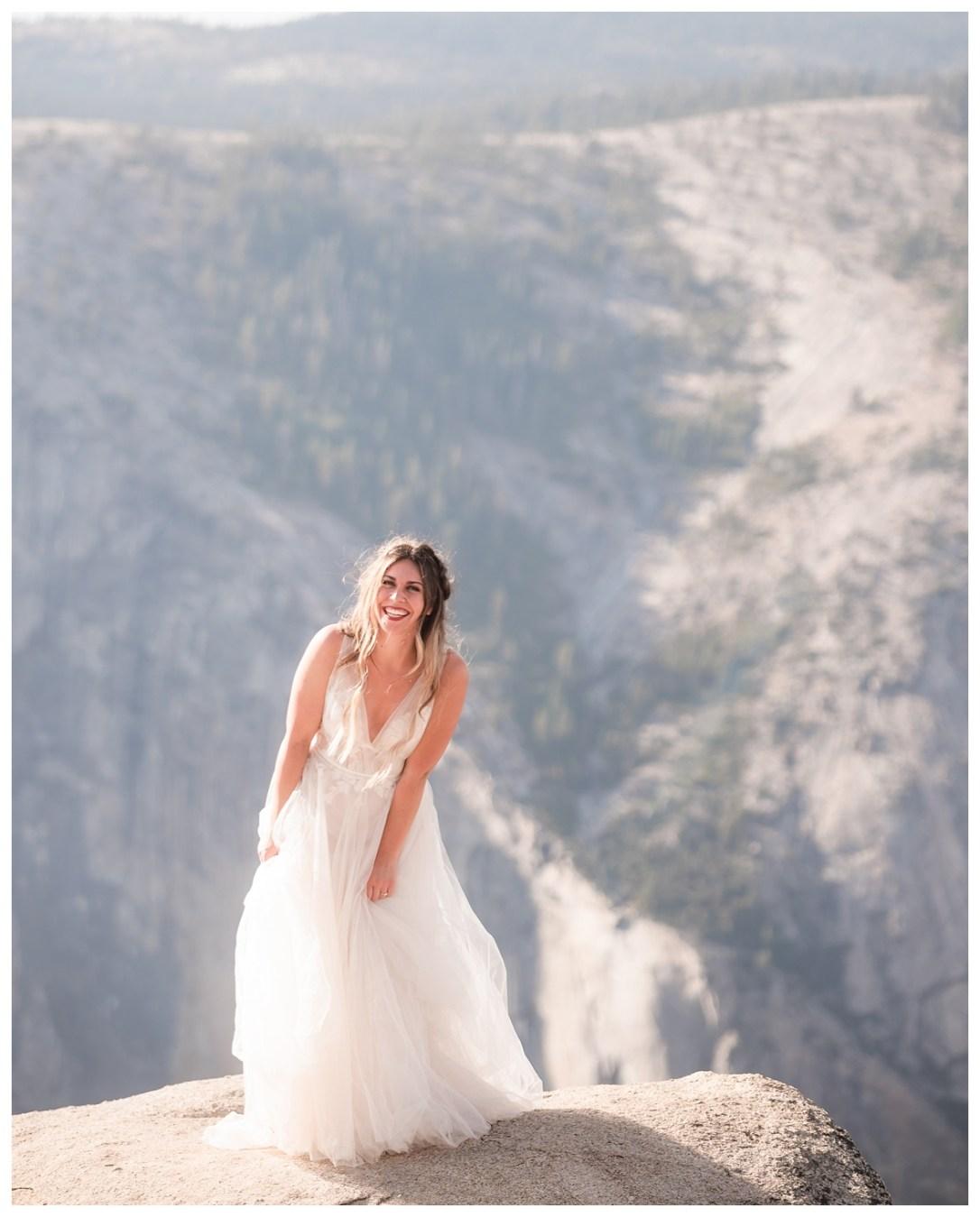 Taft Point Bridal Portraits bride laughing