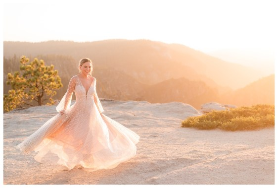 Sunset at Taft Point elopement