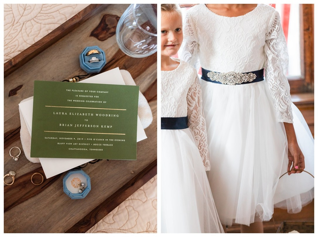 white, green, and navy wedding