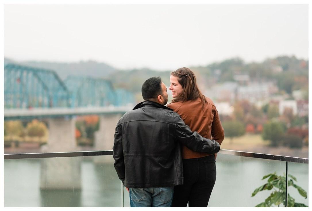 walnut street bridge engagement photos