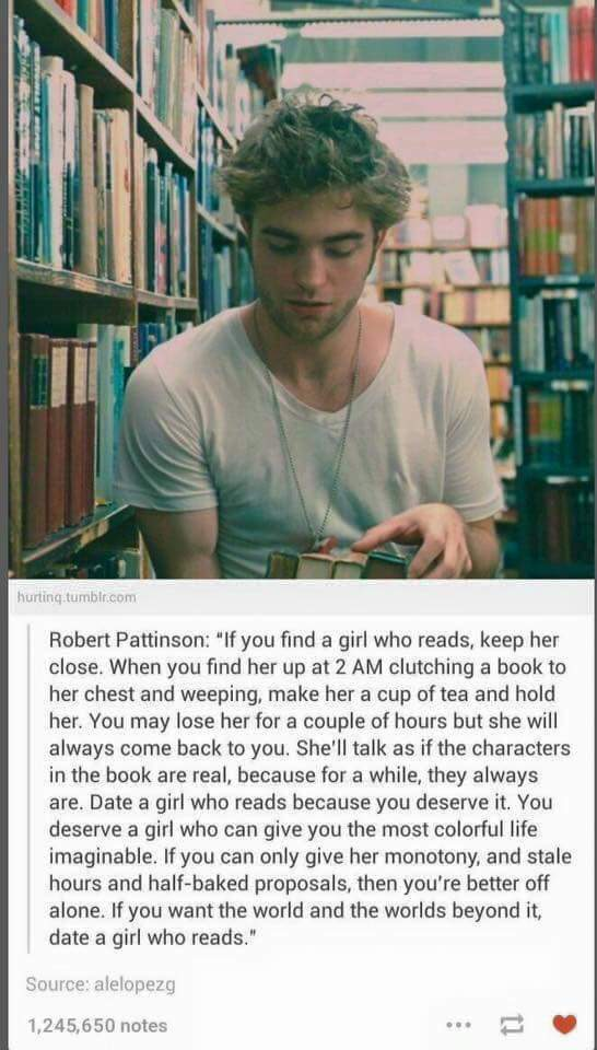 Date the girl who reads