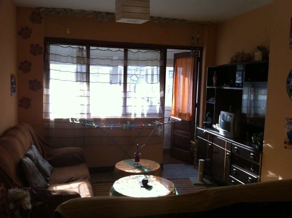 Typical living room in a Spanish apartment