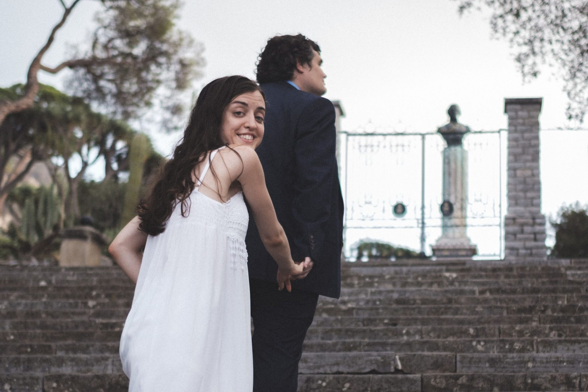 Post-wedding shoot in Gibraltar Botanic Gardens