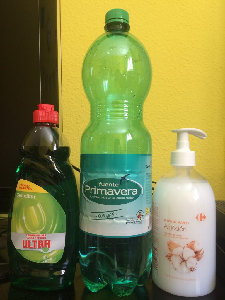 Different sized full plastic products to be recycled