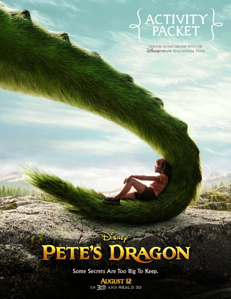 Fun and FREE printable activity sheets for the lovers of the new Disney movie Pete's Dragon