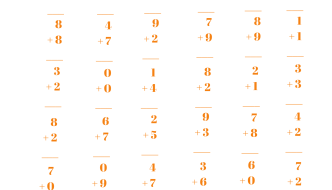 1 Minute Math Addition for First Graders