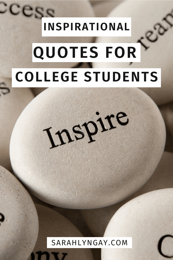 Inspirational Quotes For College Students image of quote rocks