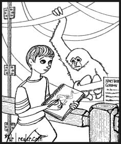 Sad Ethel the Gibbon