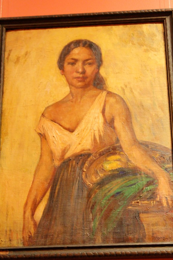 """Fruit Vendor"" by painter Pablo Amorsolo, University of Santo Tomas Museum, Manila, Philippines"