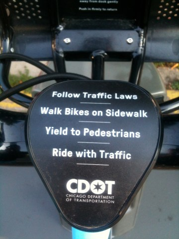 Basic rules, Divvy, Chicago bike share