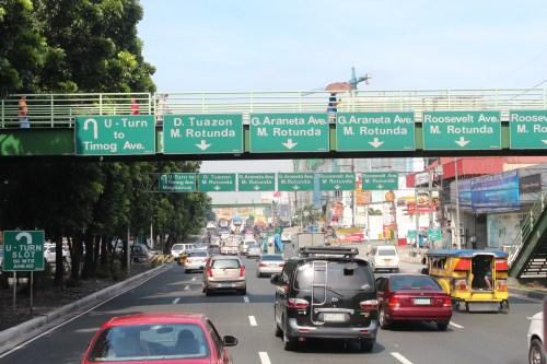 EDSA, Epiphanio de los Santos Avenue, Metro Manila, Philipppines