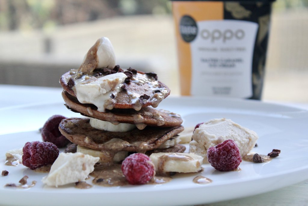 Protein Pancakes with Ice Cream? Yes please!
