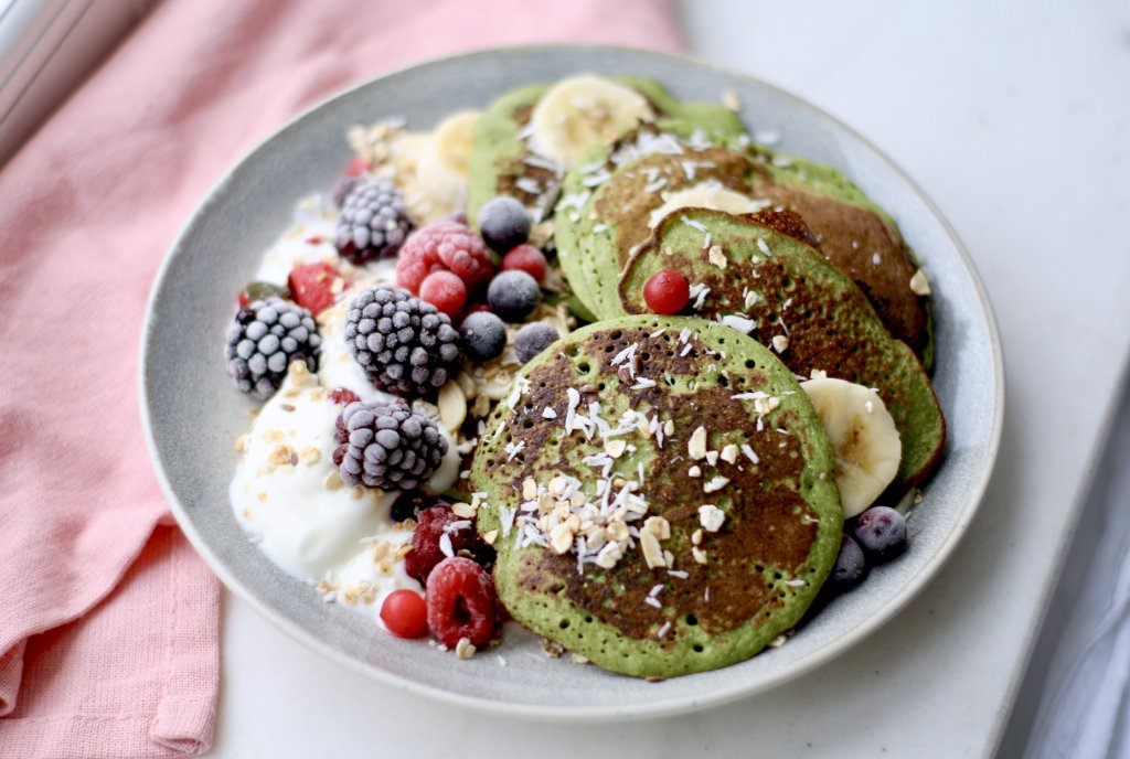 Spinach & Banana Pancakes