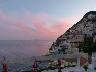 Sunset over Sirenuse and Positano