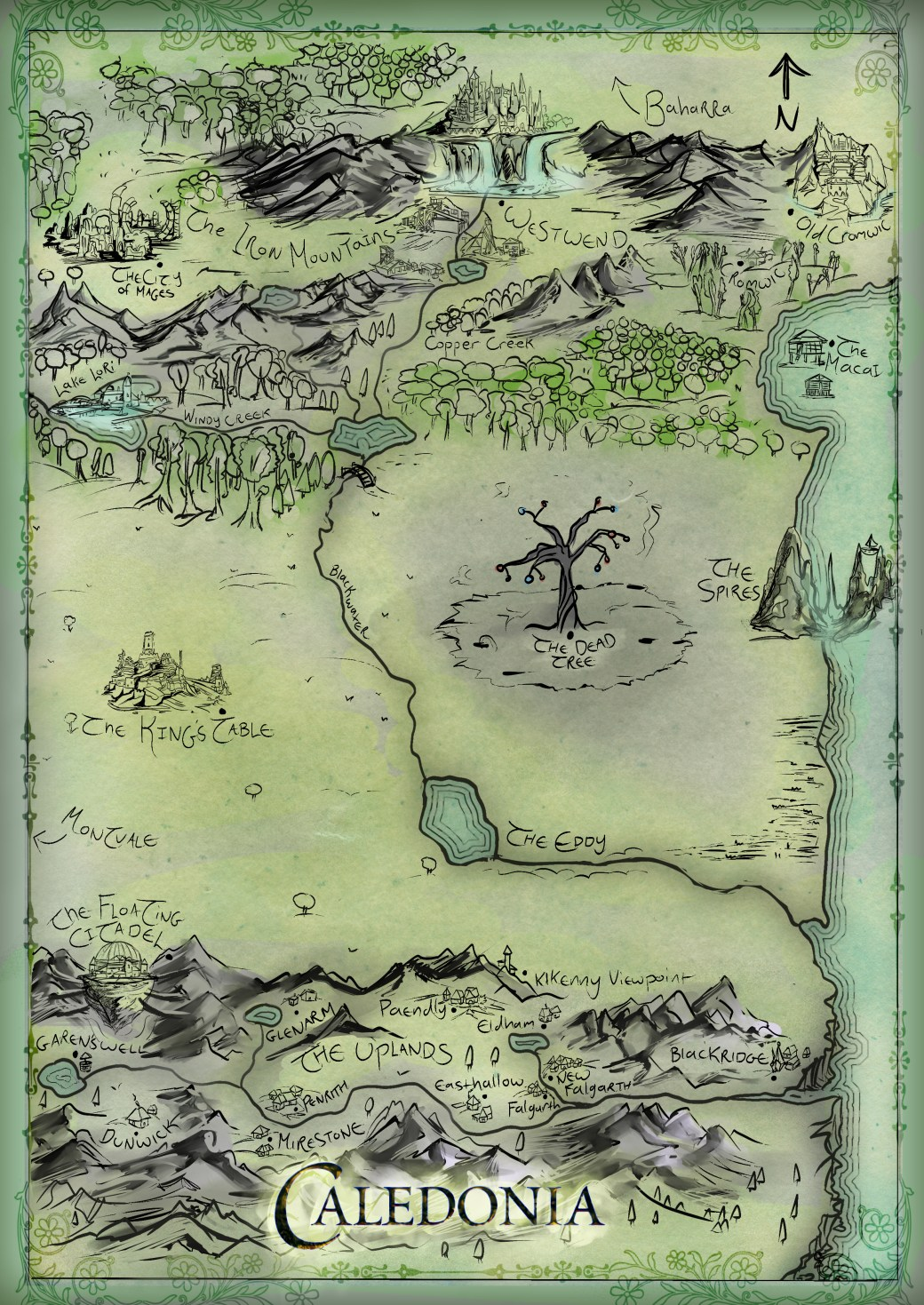 Caledonia Map Colored