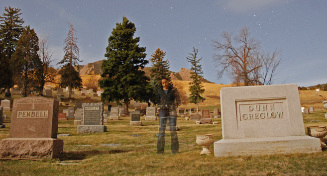 Graveyard apparition