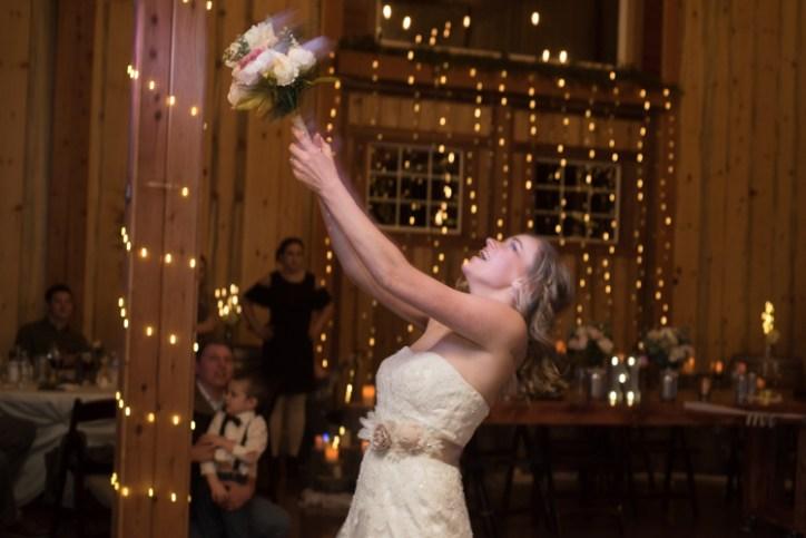 Bouquet toss!