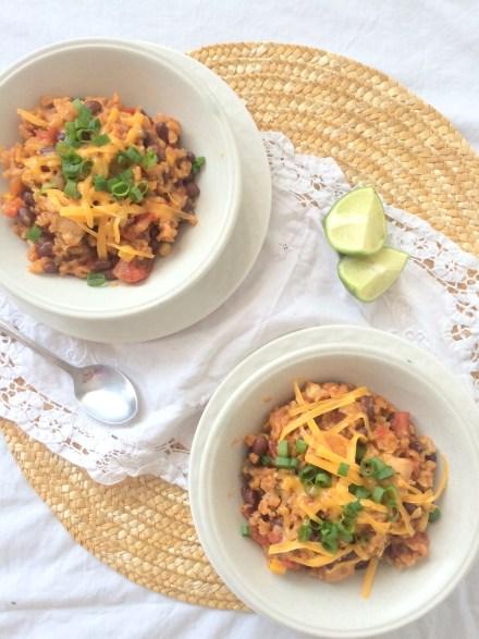 Spicy One Pot Burrito Bowl