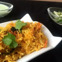 "A Spicy ""Chatpata"" Tehri - a Potato Rice Pilaf"