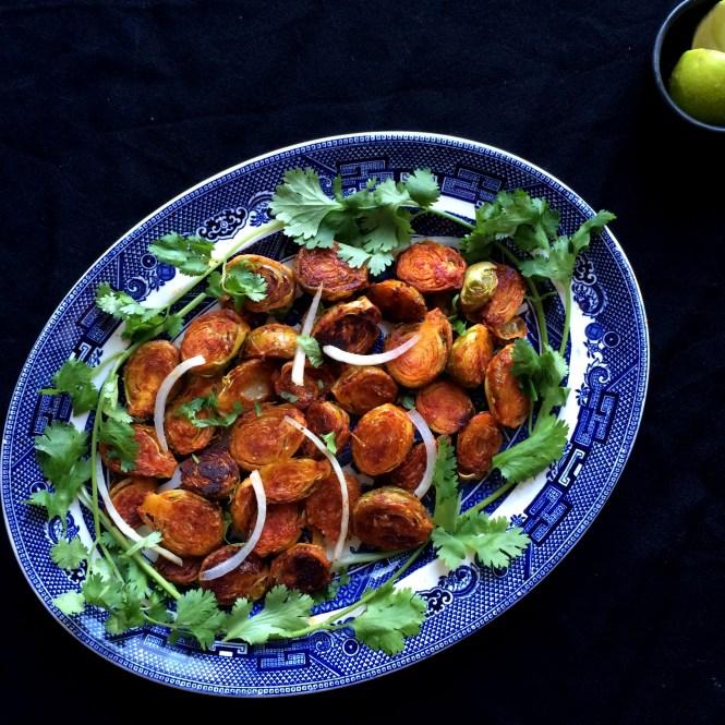 Tandoori Roasted Brussel Sprouts