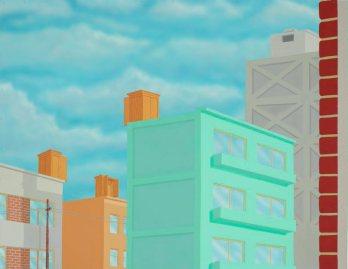 Artist : Francis Alÿs (Belgium; Mexico, b.1959) Title : New York Triptych Date : 1995-1996 Medium Description: triptych: oil on canvas, enamel on metal Dimensions : Credit Line : (Kaldor collection) Image Credit Line : Photographer Credit : Joy Lai Accession Number : SID45697