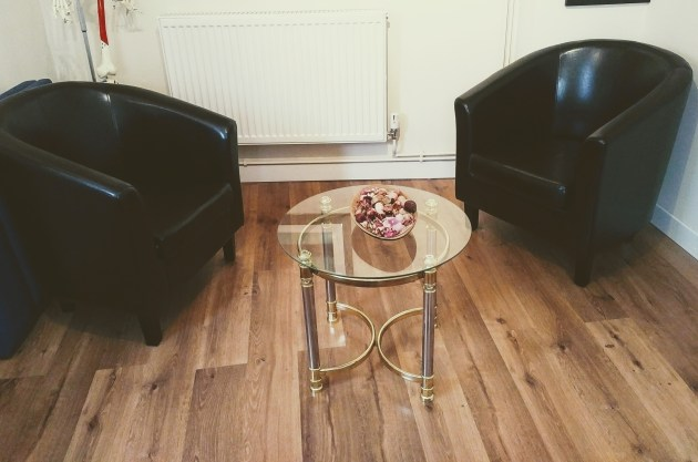 hypnotherapy consultation room