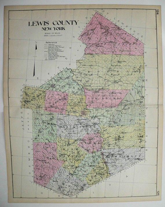 lowville antique map