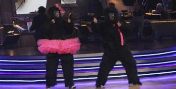 Bristol and Mark in Gorilla Costumes