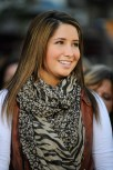 Closeup of Bristol in Brown and Beige Scarf Smiling - 2