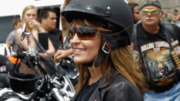Closeup of Sarah at Rolling Thunder