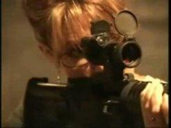 Closeup with M-16 Rifle