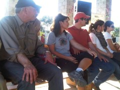 Graham and Sarah about to hand out gifts to children in Haiti