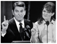 Reagan and Palin Pointing
