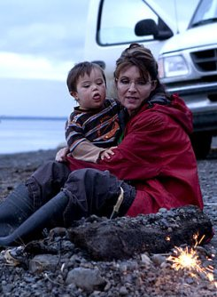 Sarah and Trig at Campfire