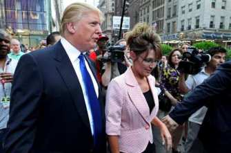 CORRECTION Palin Trump
