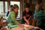 Sarah and Willow Cutting Birthday Cake