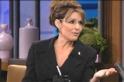 Sarah Gesturing During Tonight Show