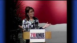 Sarah speaking at Magness Arena in Denver