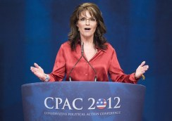 Palin addresses the Conservative Political Action Conference (CPAC) in Washington
