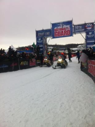 Team 11 start - Iron Dog Race 2013