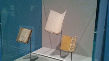 Juvenilia. Tiny manuscripts modeled after full-sized novels and magazines.