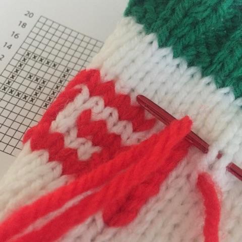 Embellishing with duplicate stitch