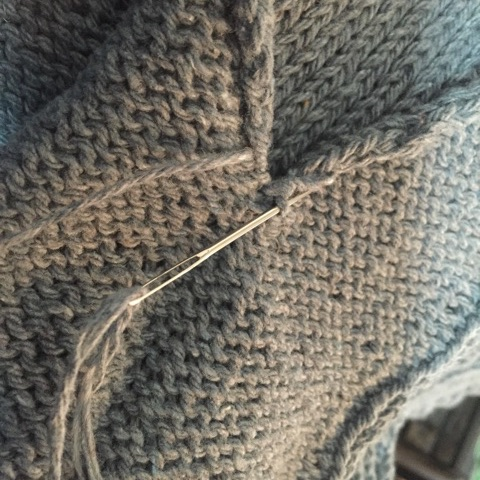 Sewing garment pieces together