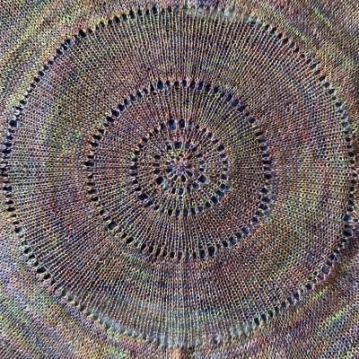 circular knit shawl