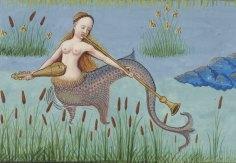 Detail of Mermaid from La Bibliothèque nationale de France.