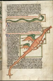 Dragon in British Library MS Harley 3244, f. 59.