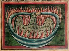 Phoenix in British Library MS Harley 4751, f. 45.